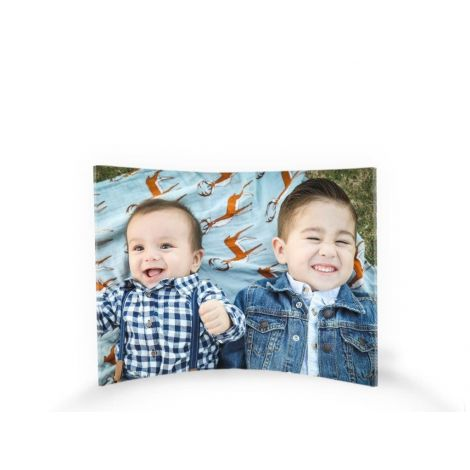 "Upload your personal photo for a customized 7"" x 5"" curved acrylic picture."