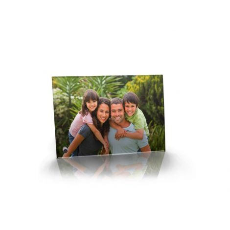 Upload your photo to create a light-enhancing flat-edge glass print.