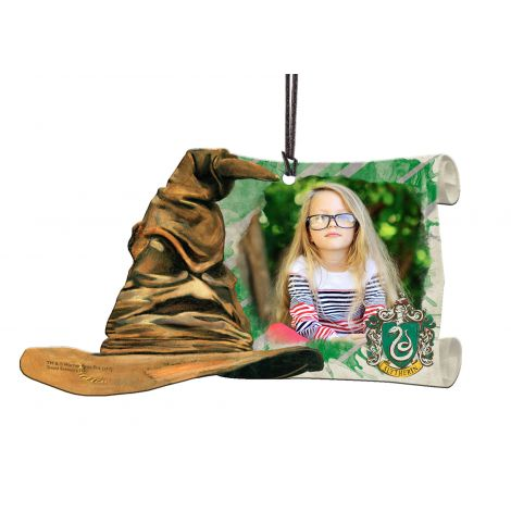 Harry Potter Slytherin Sorting Hat hanging acrylic decoration featuring a personalized image.