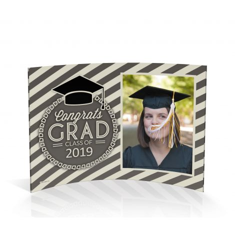 Graduation curved acrylic print featuring your graduate's photo.