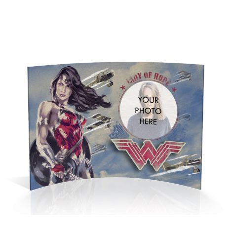Wonder Woman Lady of Hope curved acrylic print featuring your personalized photo.