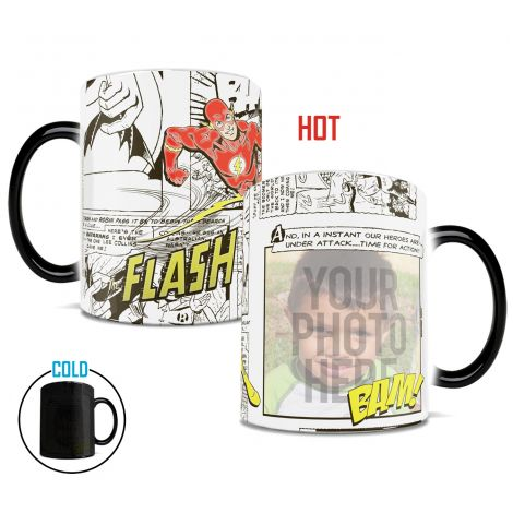 DC Comics Flash Morphing Mugs heat-sensitive drinkware. Upload your runner next to the fastest man alive!