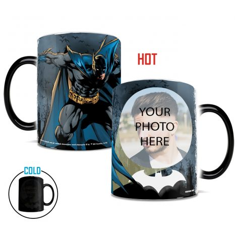 Join Batman on this Morphing Mugs heat-sensitive drinkware. Upload your own photo and be a part of the Justice League.