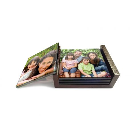 StarFire Prints™ Glass Coasters feature your uploaded image fused into glass. Show off your favorite images while protecting your surfaces or simply use them as unique photo decor!