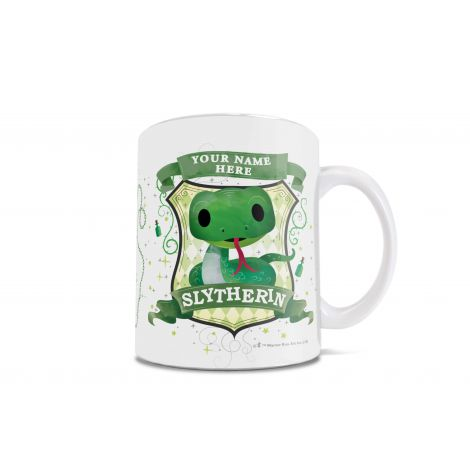 Slytherins are cunning and ambitious. On this mug, they're also super adorable.  Show your Slytherin pride in the cutest way possible, with an officially licensed Harry Potter mug.