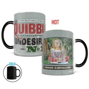 Harry Potter Quibbler Morphing Mugs heat-sensitive drinkware. Upload your favorite witch, wizard or muggle to the front page of the Quibbler paper.