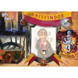 "Harry Potter Gryffindor House 12"" x 8"" MightyPrint Wall Art. Personalize with your favorite wizard, witch or muggle by uploading a photo!"