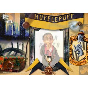 Harry Potter Hufflepuff MightyPrint Wall Art. Personalize with your favorite witch, wizard or muggle photo.