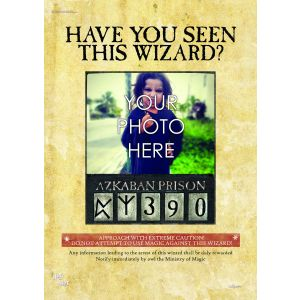 Show off the wanted wizard you know with this personalized Harry Potter Wanted Wizard MightyPrint wall art.